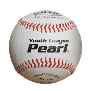 JUGS Youth League Pearl Leather Baseballs